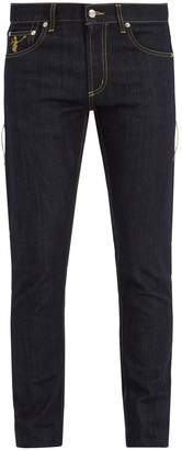 Alexander McQueen Dancing Skeleton-embroidered slim-leg jeans