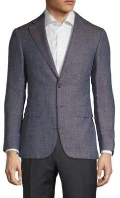 Canali Notch Wool, Silk & Linen Jacket