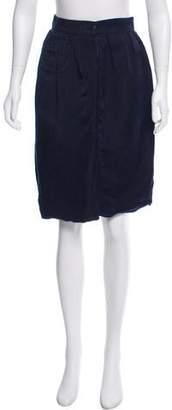 Lanvin Silk Pencil Skirt