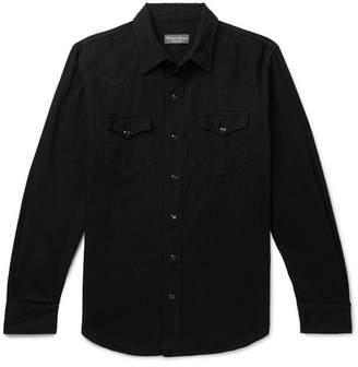 Ralph Lauren Purple Label Denim Western Shirt - Black