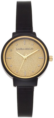 Laura Ashley Lifestyles Women's Glitz Dial & Mesh Band Watch