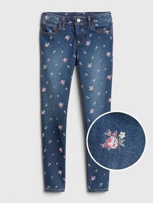 Gap Superdenim Floral Super Skinny Jeans with Fantastiflex