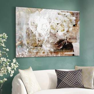 Willa Arlo Interiors 'Serving Roses Floral and Botanical Art' Wrapped Canvas Print Format: Canvas,