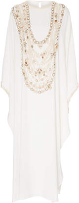 Marchesa M'O Exclusive Pearl Beaded Caftan