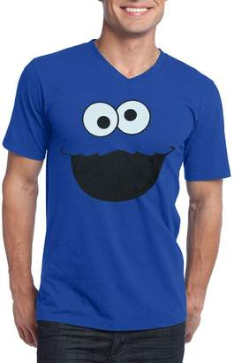 c439cbd3eb Animation Shops Cookie Monster Face V-Neck Adult T-Shirt-XXX-Large
