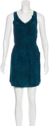 Rebecca Taylor Silk Animal Print Dress