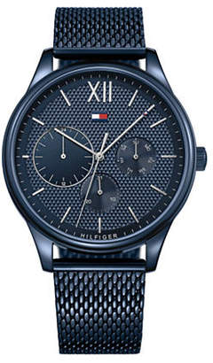 Tommy Hilfiger Blue Stainless Steel Chronograph Mesh Bracelet Watch