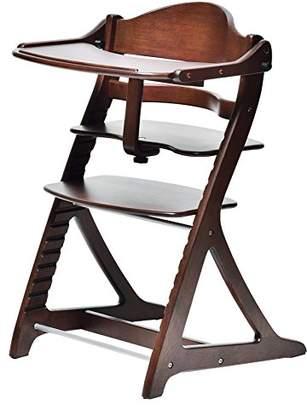 大和屋 すくすくチェアプラス テーブル付 ダークブラウンDB 1503 使いやすく進化し続けるロングセラーのベビーチェア