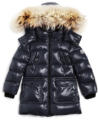 Moncler Girls' Fragont Fur Trimmed Down Puffer Coat - Sizes 4-6 $695 thestylecure.com