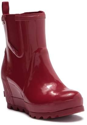 Sorel Joan Rain Waterproof Gloss Wedge Chelsea Boot