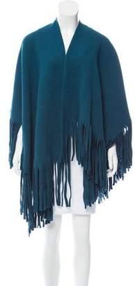 Burberry Wool Fringe Poncho