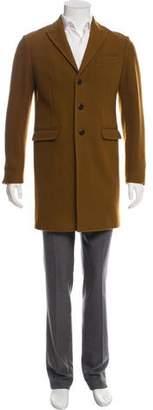 DSQUARED2 Wool Peak-Lapel Overcoat
