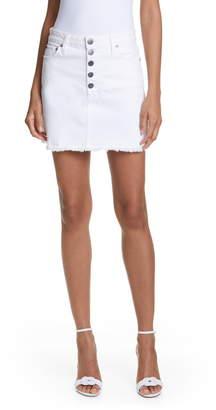 Alice + Olivia Jeans Good Exposed Button High Waist Skirt