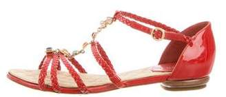Chanel Gripoix Braided Sandals