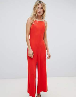 Warehouse Square Neck Culotte Jumpsuit