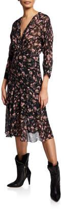 IRO Temper Floral-Print Midi Dress