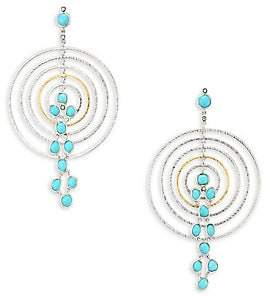 Coomi Silver Women's Spring Turquoise, Diamond & Sterling Silver Drop Earrings