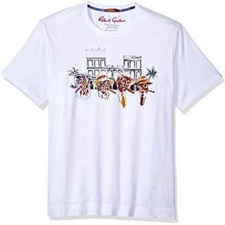 Robert Graham Men's Cigar Short Sleeve Graphic T-Shirt
