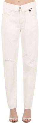 Atelier Jean High Waist Straight Cotton Denim Jeans