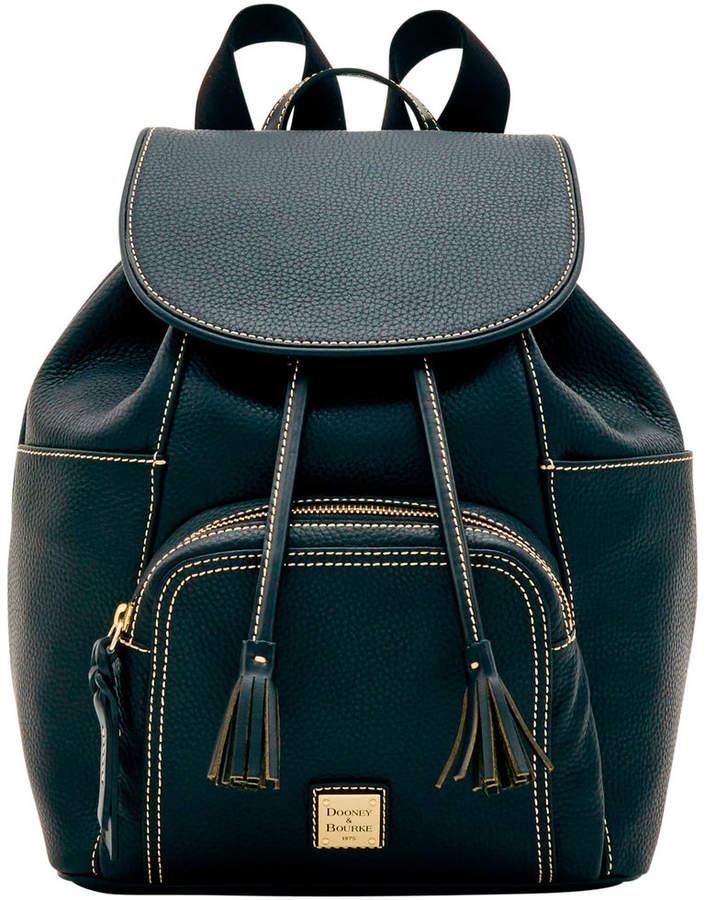 Dooney & Bourke Pebble Grain Large Murphy Backpack - BLACK BLACK - STYLE