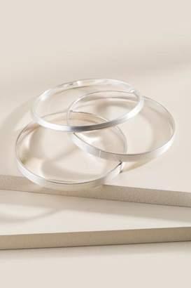 francesca's Karima Bangle Bracelet Set - Silver