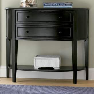 Powell Antiqued Black Console Table