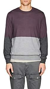 Brunello Cucinelli Men's Cashmere Colorblocked Sweater - Purple
