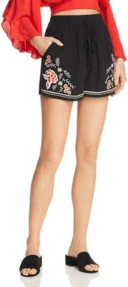 Band of Gypsies Floral Embroidered Shorts