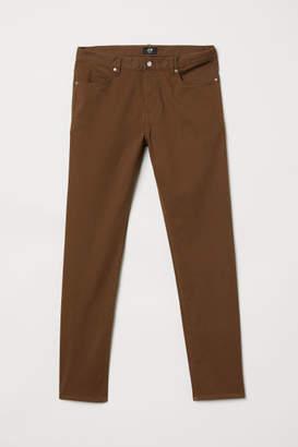 H&M Twill Pants Slim fit - Brown