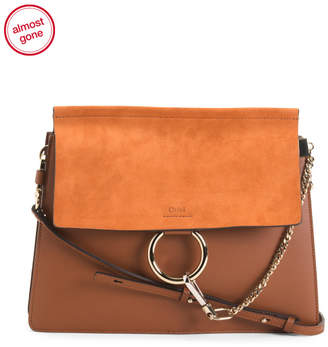 Made In Italy Leather Large Faye Day Bag
