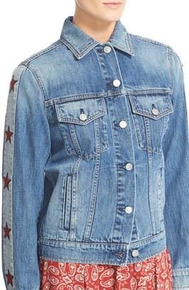 Women's Belstaff Carvill Star Patch Denim Jacket $495 thestylecure.com