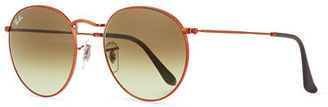 Ray-Ban Gradient Round Metal Sunglasses $165 thestylecure.com