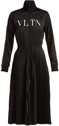 Valentino VLTN pleated jersey midi dress