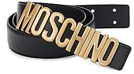 Moschino Men's Classic Leather Belt