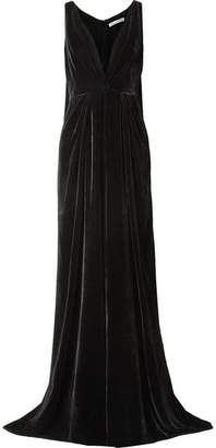 Oscar de la Renta Velvet Gown - Black