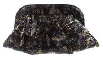 Lauren Merkin Glazed Snakeskin Clutch
