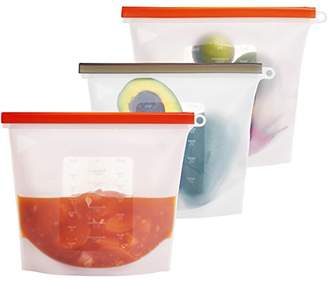 Eco-Aforcli Reusable Silicone Food Storage Bags | LARGE SIZE / 50oz/1500ML/6Cups | BPA-Free Silicon Airtight