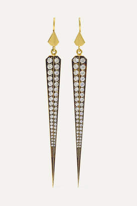 Sylva & Cie 18-karat Gold Diamond Earrings - one size