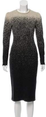 Oscar de la Renta Knit Midi Dress