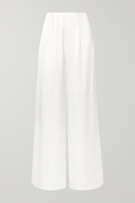 Les Héroïnes The Coco Satin Wide-leg Pants - Ivory