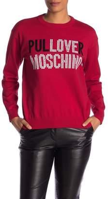 Love Moschino Maglia Intarsio Knit Top