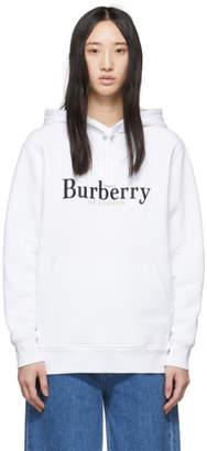 Burberry White Pelorus Hoodie