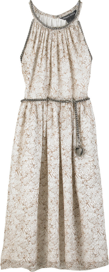 Thomas Wylde Castile chain embellished dress
