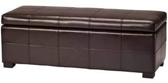 Safavieh Madison Bicast Leather Large Storage Bench