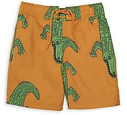 Mini Rodini Little Boy's & Boy's Crocodile Print Swim Shorts