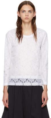 Comme des Garcons White Raschel Lace T-Shirt