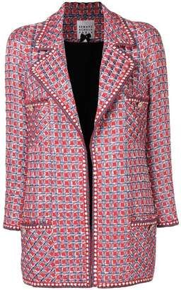 Edward Achour Paris longline tweed jacket
