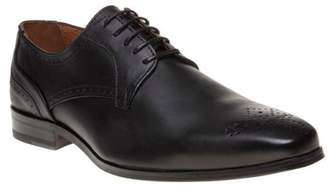 Sole New Mens Black Station Leather Shoes Brogue Lace Up