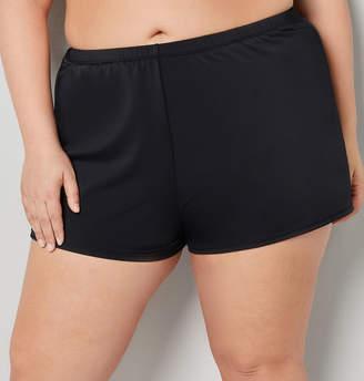 Avenue Black Swim Short With Thigh Concealer