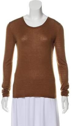 Miu Miu Long Sleeve Scoop Neck Sweater